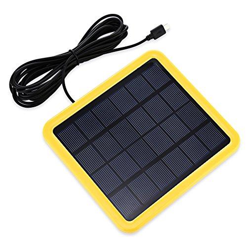 KK.BOL Portable Solar Panel for Model S1200 S1500 S1800 Yellow-solar panel 2W