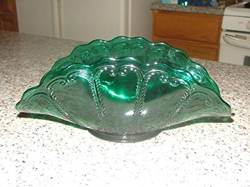Rare Vintage Stunning Aquamarine Blue Glass Basket
