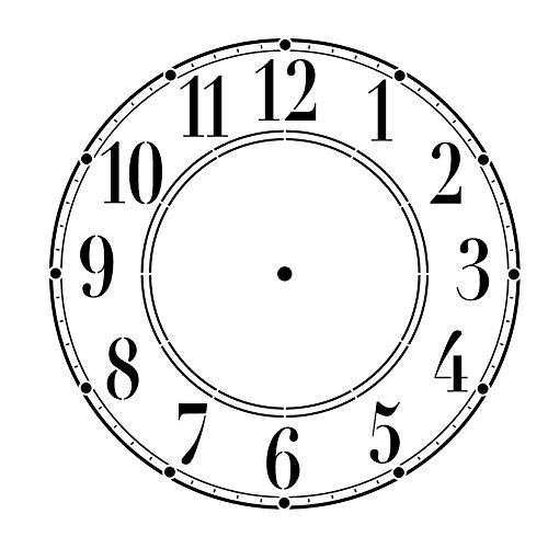 Schoolhouse Clock Stencil - 13 inch Clock by Studio R 12