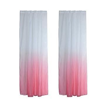 Sharplace 2 X Stilvolle SchlafzimmerFenster Vorhang 100x200cm Gardinen  Party Deko Zubehör   Rosa