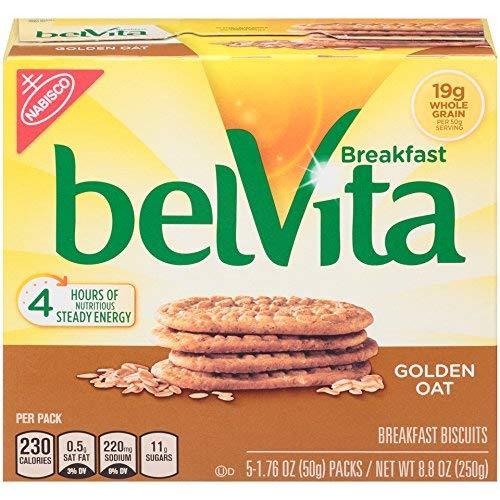 Belvita Golden Oat Breakfast Biscuits, 5 Count Box, 8.8 Ounce (Pack of 6) by Belvita