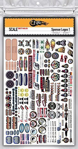 FireBrand RC • SPONSOR LOGO Decals 1A - Scale Details (Sponsor Decal Sheet)
