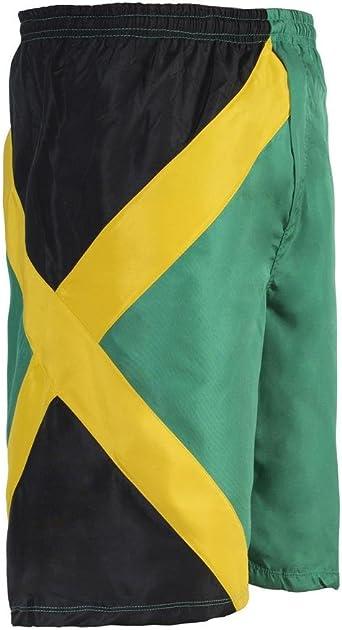 JL Sport Pantalones Crucero Troncos De Nadada Deportes De Jamaica Bermuda Beach Camisetas De Reggae