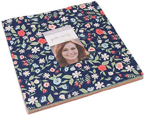 Garden Quilting Fabric - MODA Garden Variety Layer Cake, 42-10