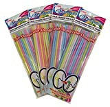 FunFlex (4pk) Color Changing Disposable Straws - Slim