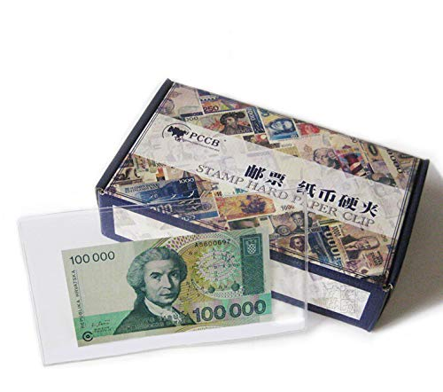 Dalab 10Pcs Transparent Black Paper Money Display Case Stamps Big Small Size Holders World Paper Collection Banknotes - (Color: Black, Size: Small)