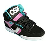 Osiris Women's NYC83 SLM Skate Shoe,Black/Purple/Sea,5 M US