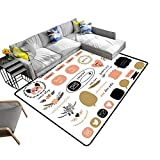Contemporary Synthetic Rug Ultimate Design Elements Blog kit for Your Graphi Projects Print Stain Resistant & Easy to Clean 24 x 21 inch