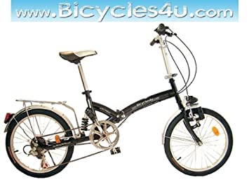 "20/"" Folding Front Suspension Mountain Bike Shimano 6 Speed Sport Bicycles Silver"