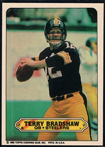 (Football NFL 1983 Topps Stickers #5 Terry Bradshaw Steelers)