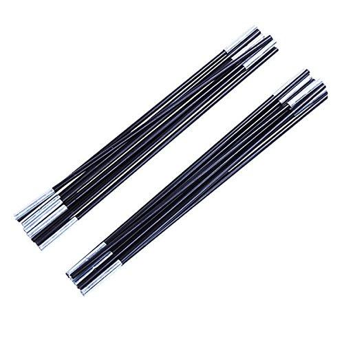 WINOMO 2pcs Fibre de Verre Tente Pole Kit Remplacement Kit pour Multijoueur Tente 7 Sections/Pcs