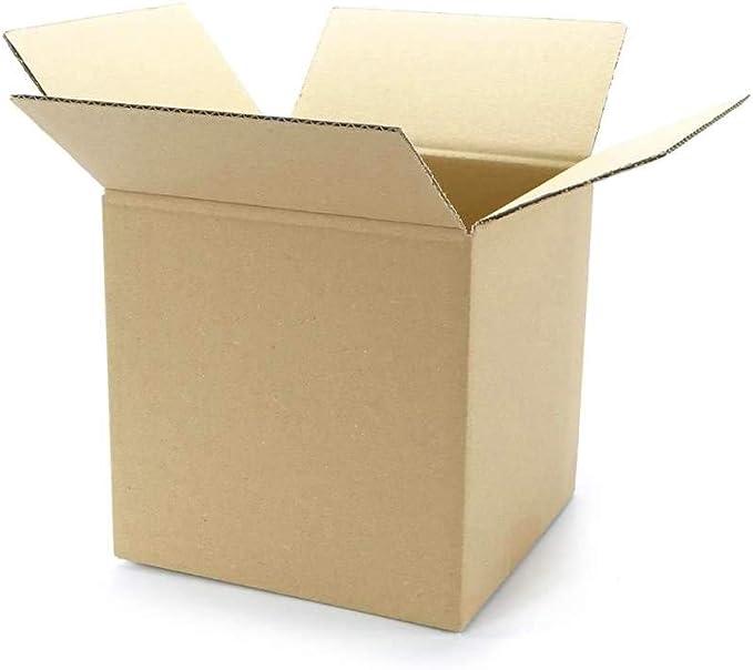 Caja M, dimensiones interiores 200 x 200 x 200 mm – Marrón Ondulado single-wave – Hasta 20 kg, color marrón Innenmaß: 200 x 200 x 200 mm: Amazon.es: Oficina y papelería