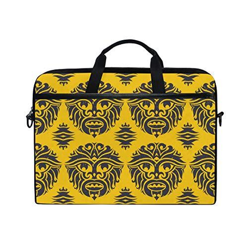 KEAKIA Tribal Monkey Mask Laptop Bag Shoulder Messenger Bag Simplicity Slim Briefcase Commuter Bag Case Business Sleeve Carrying Handle Bag for 14 inch to 15.6 inch Laptop Notebook