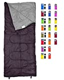 REVALCAMP Lightweight Sleeping Bag - Black - Indoor & Outdoor use. Great for Kids, Teens & Adults. Ultra Light and Compact Bags are Perfect for Hiking, Backpacking, Camping & Travel.
