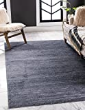 Unique Loom Uptown Collection by Jill Zarin Collection Textured Solid Geometric Modern Navy Blue Area Rug (9' 0 x 12' 0)
