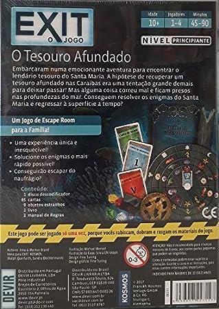 Devir- Exit: El Tesoro hundido Ed. Portuguesa (BGEXIT7PT): Amazon.es: Juguetes y juegos