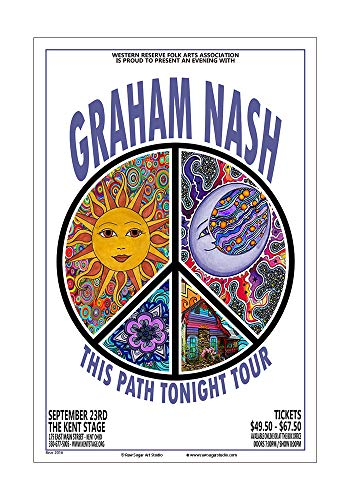 Raw Sugar Art Studio Graham Nash/CSNY 2016 Kent Ohio Concert Poster
