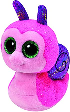 Ty - Beanie Boos Scooter, Caracol, 15 cm, Color Rosa (United Labels