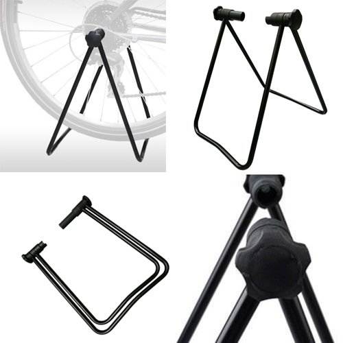 Vilobyc Universal Flexible Foldable Bike Wheel Hub Display Stand Floor Storage Rack Bicycle Repair Kick Stand for Parking Holder fit wheel size 24-29 inch by Vilobyc
