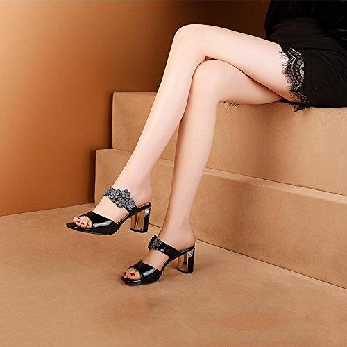 745 toed UK 4 Hauts Haut Sandales Open Chaussures Ly dérapant taille Blanc Anti Couleur Été Et Escarpins L'usure 7 Printemps Pour DALL Résistant Talons 37 Femmes 5 Noir 5 CN37 EU De Cm À f7qEB