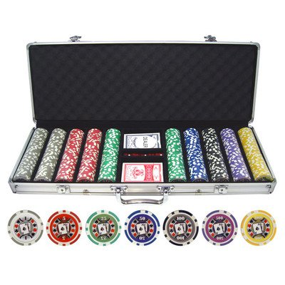 500 Piece Big Slick 11.5g Poker Chip Set by JP Commerce