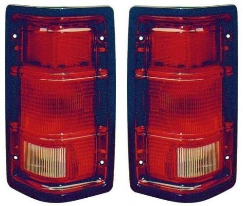 (Go-Parts PAIR/SET OE Replacement for 1988-1996 Dodge Dakota Rear Tail Lights Lamps Assemblies/Lens / Cover - Left & Right (Driver & Passenger) Side - (Base Model + LE + S + Shelby + Spor)