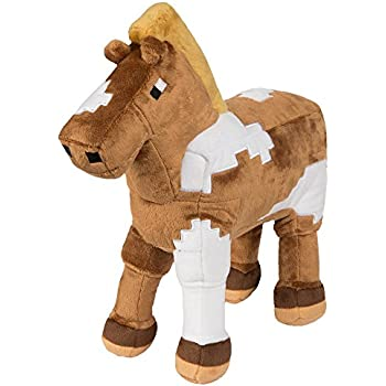 JINX Minecraft Horse Plush Stuffed Toy (Multi-Color, 13