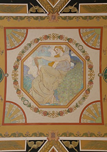 24 x 36 Giclee Print of Second Floor North Corridor. Mural Depicting Sight of The Five Senses by Robert Reid. Library of Congress Thomas Jefferson Building Washington D.C. r84 2011 - Senses Five Sight