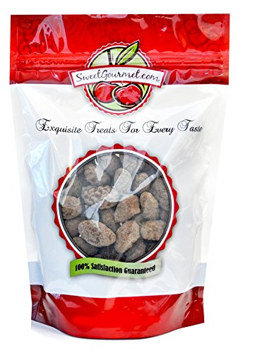 Dark Chocolate Turbinado Almonds with Sea Salt - SweetGourmet (Chocolate Coated Almonds)