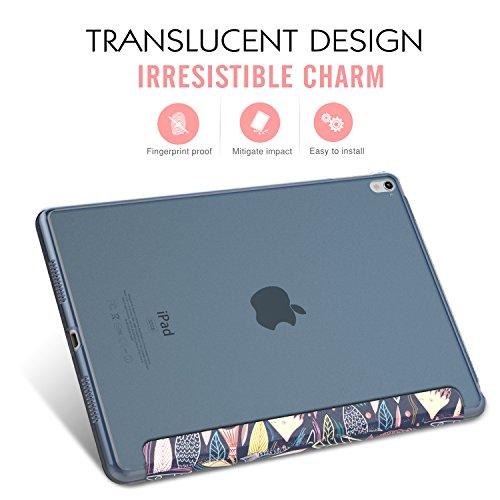 MoKo Funda para iPad Pro 9.7 - Ultra Slim Función de Soporte Protectora Plegable Smart Cover Trasera Transparente Durable (Auto Sueño / Estela) Para Apple iPad Pro 9.7 Pulgadas 2016 Tableta(no apto nu Peces del Mar