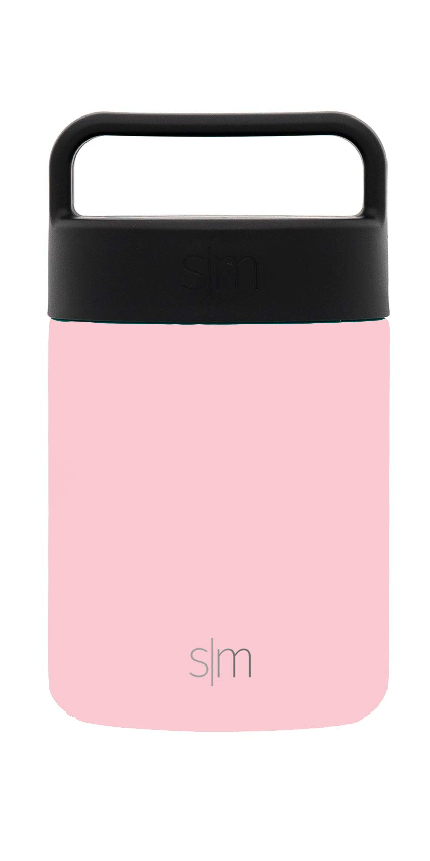 Simple Modern 12oz Provision Food Jar with Handle Lid - Vacuum Insulated Thermos 18/8 Stainless Steel Hydro Leak Proof Food Storage Container Flask - Blush