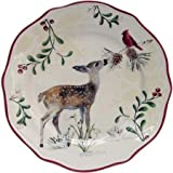 Better Homes & Gardens Limited Edition Christmas Heritage Fawn Salad Plate
