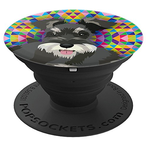 Schnauzer Dog Lover Gift - PopSockets Grip and Stand for Phones and Tablets ()