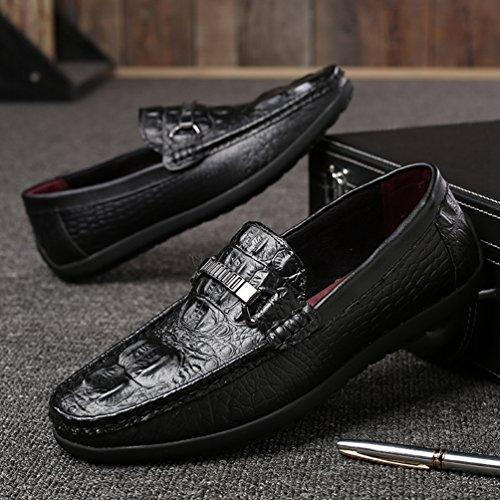 Negro Feidaeu Zapatos Hombre Sintético de xwqCORnp