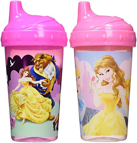 Disney Princess Sippy Cups with Glitter, Pink, 2 Count