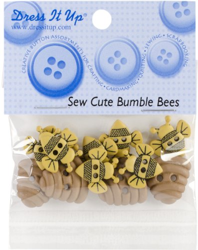 Dress It Up Embellishments-Sew Cute Bumble Bees 1 pcs sku# 1779868MA by Jesse James