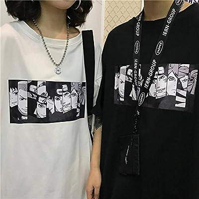 Harajuku Naruto Tshirt Streetwear Men Amine T Shirt Casual Cartoon Print Male topsT Shirt Boys-in T
