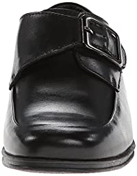 Kenneth Cole Reaction In The Club Monk Strap (Little Kid/Big Kid),Black Shiny LeaTher,6 M US Big Kid