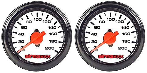 - airmaxxx Two Dual Needle Air Gauges White 200psi