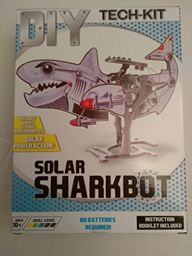 Kids Teens Unisex Boys DIY Assembly Solar SHARKBOT Robotic Kit Robot Perfect Education Tool (Jasmine Halloween Diy)