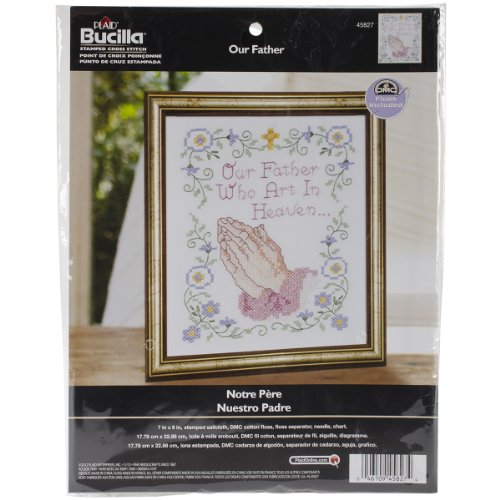 Bucilla Stamped Cross Stitch Kit (7 x 9-Inch), 45827 Our Father