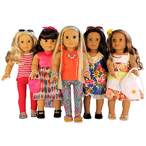 Nashville Toy 16-Piece Clothes and Accessories Set for 18-Inch American Girl Dolls, Set of - 2014 Affordable Sunglasses