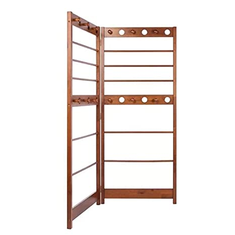 Amazon.com: Perchero de madera simple plegable fácil de ...