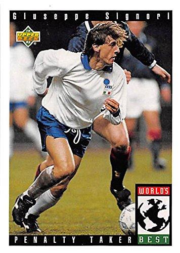Giuseppe Signori trading card (Soccer Football Italy) 1993 Upper Deck World Cup #111 1993 Upper Deck Football Card