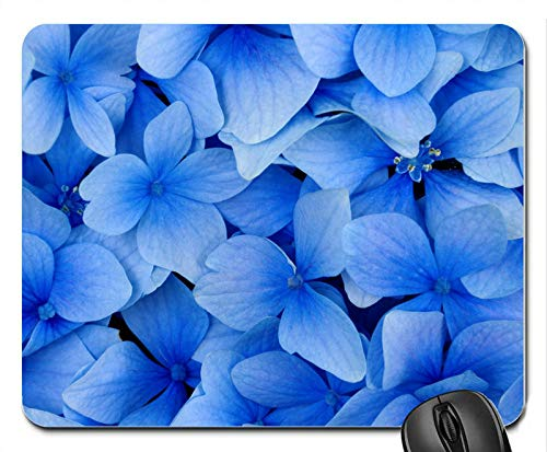 Blue Flowers Rubber Computer Mouse PAD Mat