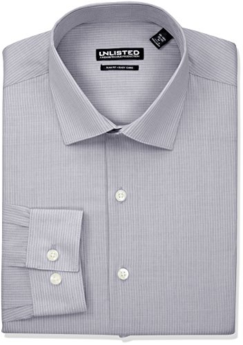 Kenneth Cole Reaction Men's Unlisted Slim Fit Stripe Spread Collar Dress Shirt