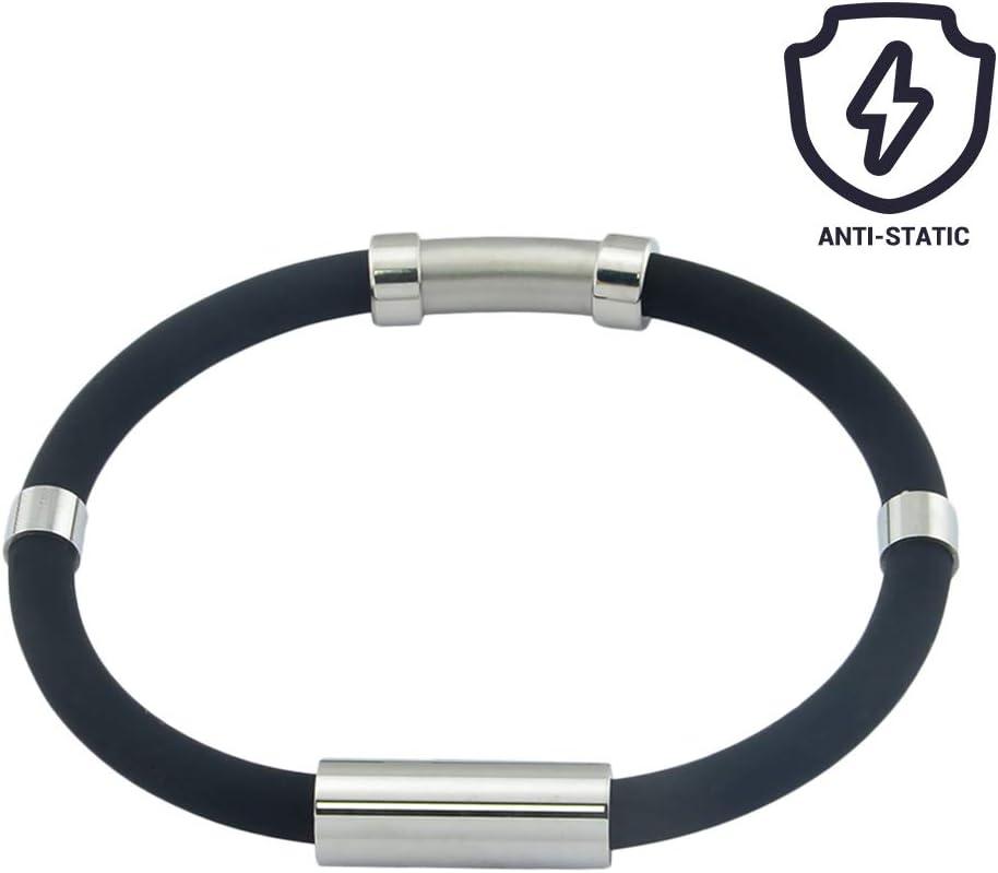 Wopohy Antistatisches Armband Silikon Anti-Statik Handgelenkb/änder f/ür Frauen M/änner f/ür Sport Outdoor