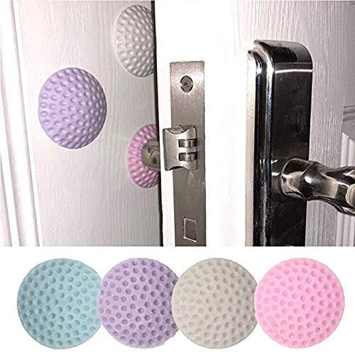 2 Door Stoppers SENHAI Hemispherical Adhesive Rubber Doorstop Wall Protector Door Knob Wall Shield Door Handle Bumper Guard Pink, 2Pack