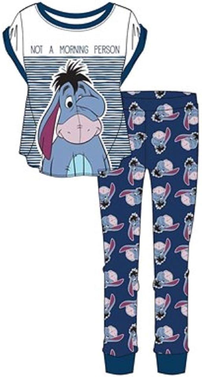 DISNEY, EEYORE Conjunto de pijama para mujer y niña mayor, talla 8-22