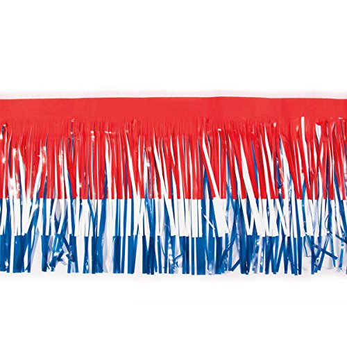 Red, White and Blue Vinyl Fringe - 15